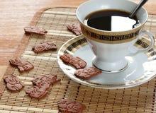 Caffè con la pasticceria. Fotografia Stock Libera da Diritti