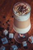 Caffè con la schiuma fine del latte Immagine Stock