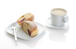 Caffè con la torta Immagini Stock