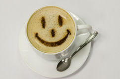 Caffè con lo smiley Immagine Stock