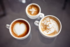 Caffè con progettazione di arte Fotografia Stock Libera da Diritti