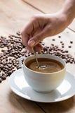 Caffè con schiuma Fotografia Stock Libera da Diritti