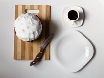 Caffè con un dolce molto saporito Immagine Stock