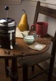 Caffè con un paio Fotografie Stock