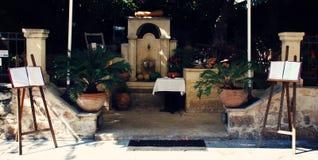 Caffè in Creta Immagine Stock