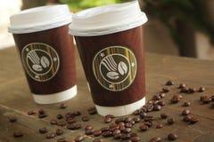 Caffè da andare Immagini Stock Libere da Diritti