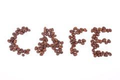 Caffè dei chicchi di caffè Fotografie Stock Libere da Diritti