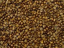 Caffè del Brown, struttura della priorità bassa, primo piano Chicco di caffè per fondo Immagini Stock Libere da Diritti