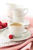 Caffè del caffè espresso con latte Fotografie Stock Libere da Diritti
