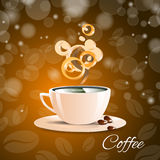 Caffè del caffè espresso dell'aroma di marrone del caffè della tazza Fotografia Stock