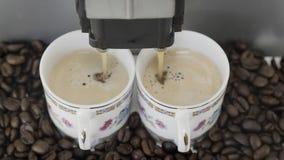 Caffè del caffè espresso di Duble Fotografia Stock Libera da Diritti