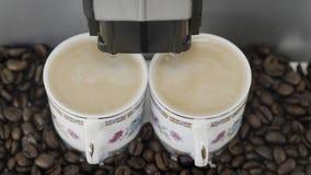 Caffè del caffè espresso di Duble Fotografie Stock