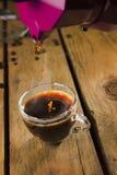 Caffè del caffè espresso fatto con la moca Fotografia Stock Libera da Diritti