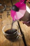 Caffè del caffè espresso fatto con la moca Immagine Stock