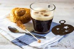 Caffè del caffè espresso per la prima colazione Immagini Stock