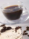 Caffè del caffè espresso in tazza di vetro Immagini Stock Libere da Diritti