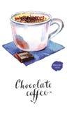 Caffè del cioccolato Fotografia Stock
