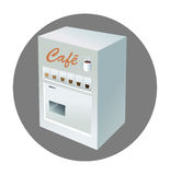 Caffè del distributore automatico Fotografia Stock