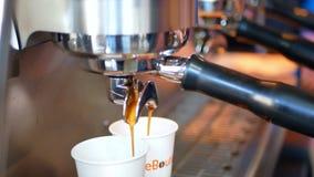 Caffè del caffè espresso del primo piano stock footage
