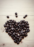 caffè del fagiolo del ‰ del ¹ del à di cuore Fotografia Stock