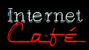 Caffè del Internet immagini stock libere da diritti