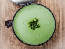 Caffè del latte del tè verde Fotografia Stock Libera da Diritti