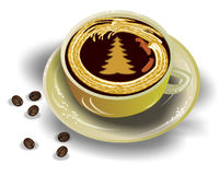 Caffè del nuovo anno Immagini Stock Libere da Diritti