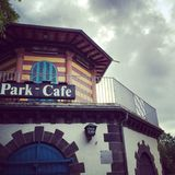 Caffè del parco di Francoforte Fotografia Stock