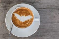Caffè del pipistrello di Halloween Fotografie Stock Libere da Diritti