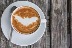 Caffè del pipistrello di Halloween Fotografie Stock