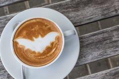Caffè del pipistrello di Halloween Immagine Stock
