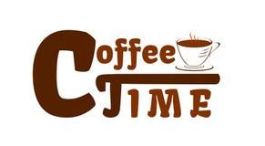 Caffè del tempo il migliore tempo durante il giorno illustrazione di stock