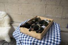 Caffè del vino Fotografie Stock