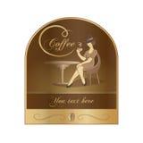 Caffè dell'etichetta Fotografia Stock