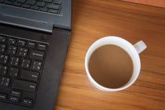 Caffè della bevanda pronto a lavorare Fotografie Stock