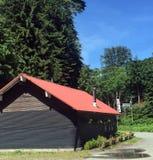 Caffè della casa del cavo in Sayward, Columbia Britannica Fotografia Stock Libera da Diritti