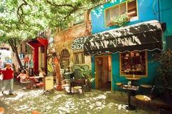 Caffè della città in distretto ricostruito Immagine Stock Libera da Diritti