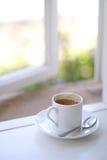 Caffè della finestra Fotografie Stock Libere da Diritti