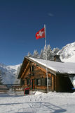 Caffè della montagna di Snowy nell'orario invernale Fotografie Stock