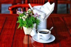 Caffè della prima colazione Fotografia Stock