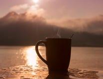 Caffè della siluetta immagine stock libera da diritti