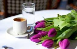 Caffè della sorgente Fotografie Stock Libere da Diritti