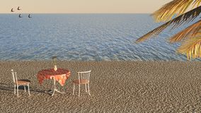 Caffè della spiaggia Immagini Stock Libere da Diritti