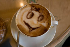 Caffè della tazza con cannella Fotografia Stock