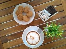 caffè della tazza del biscotto Immagini Stock Libere da Diritti