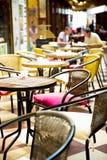 Caffè della via Fotografie Stock Libere da Diritti
