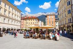 Caffè della via a Innsbruck Immagine Stock