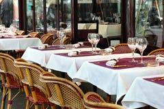 Caffè della via a Parigi Immagine Stock Libera da Diritti