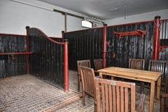 Caffè delle stalle alla bella casa di campagna vicino a Leeds West Yorkshire che non è la fiducia nazionale immagini stock