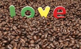 Caffè di amore Immagini Stock Libere da Diritti